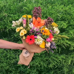 Bouquet of 20 colourful flowers