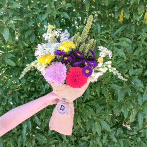 Bouquet of 10 bright flowers