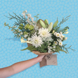 small bouquet of white flowers