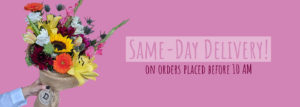 Same-day delivery on orders placed before 10 AM