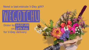 order by 10:00 AM on 14th Feb for V-Day delivery